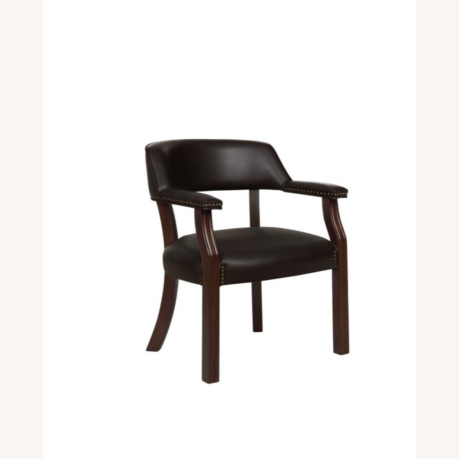 Guest Chair In Brown Leatherette - image-0