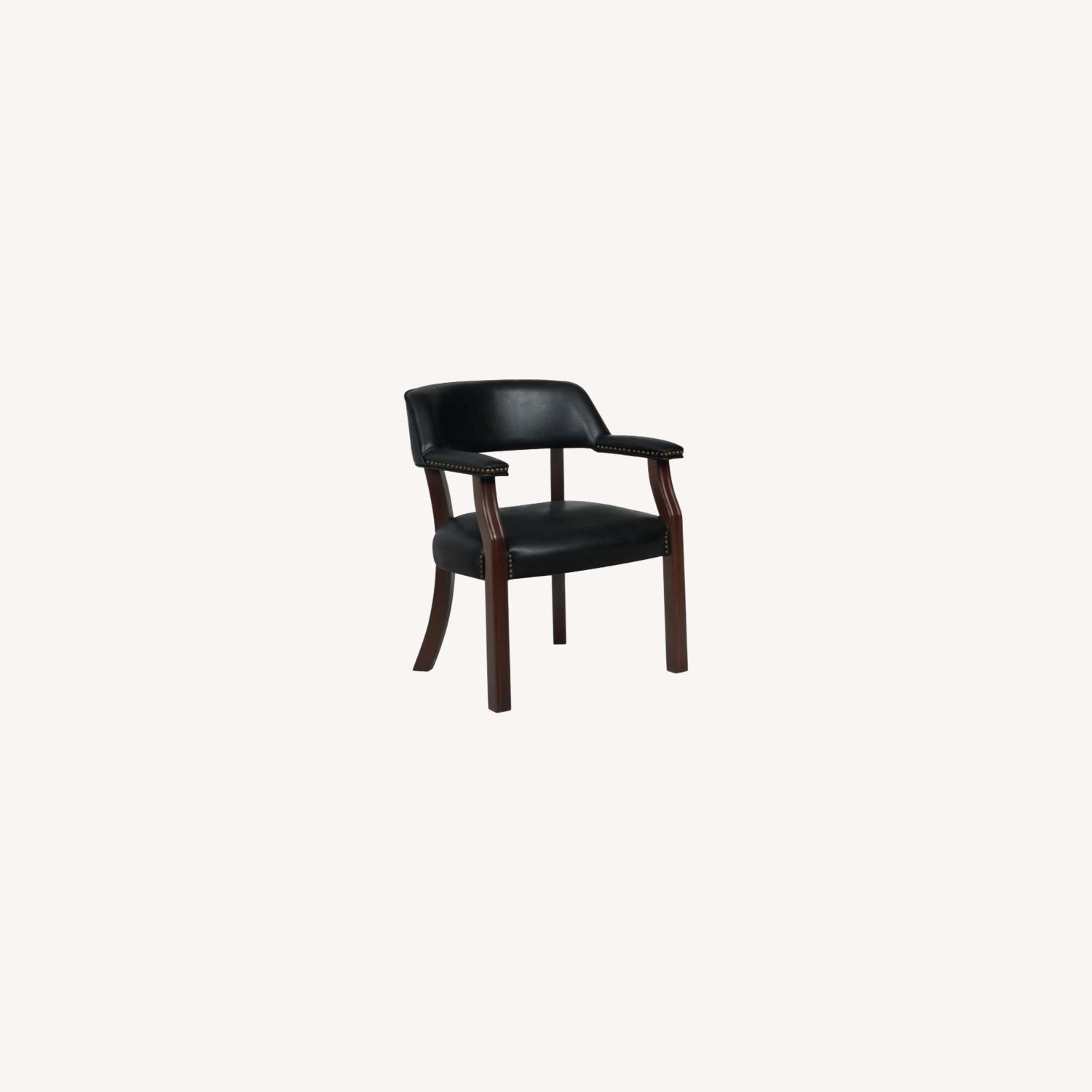 Guest Chair In Black Leatherette - image-3