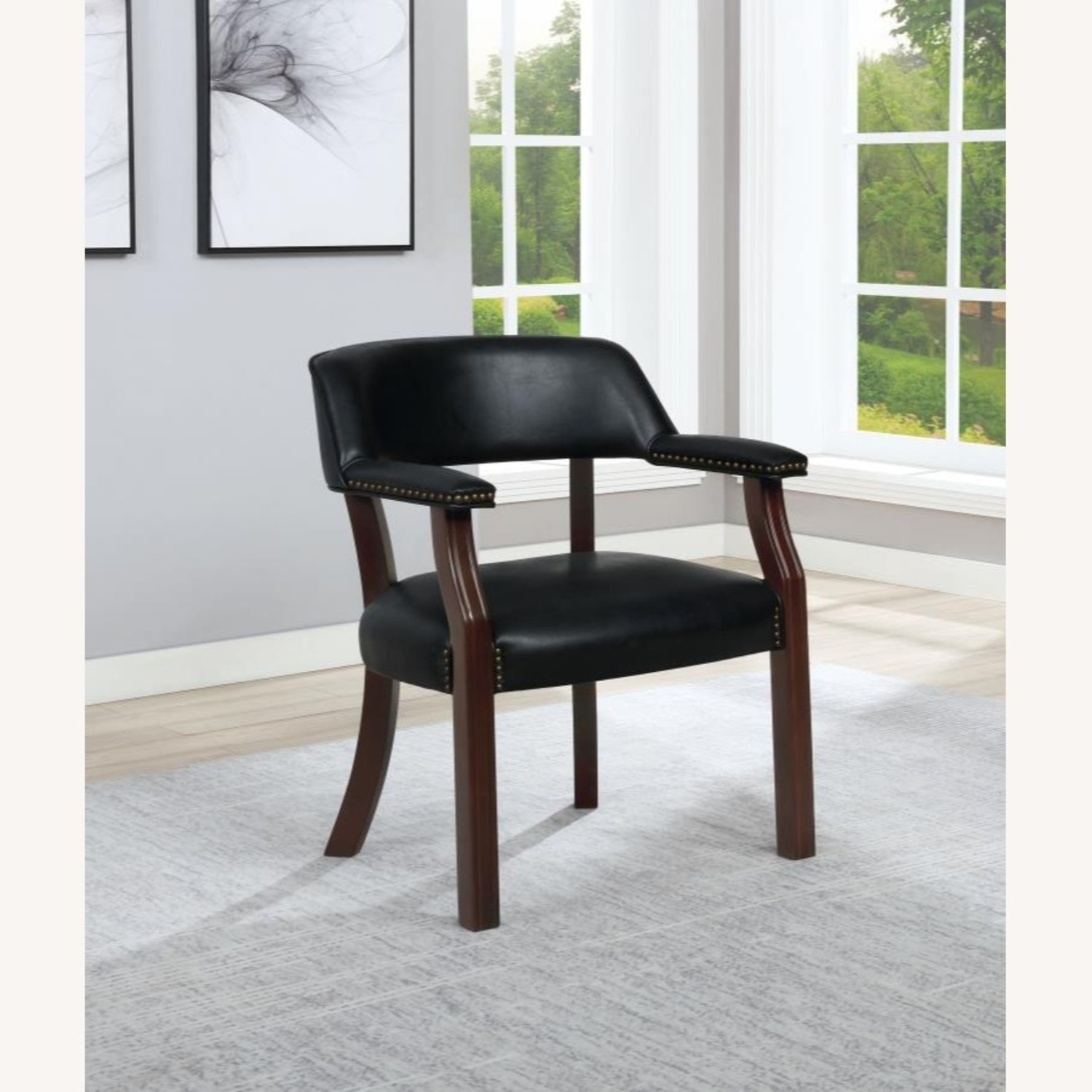 Guest Chair In Black Leatherette - image-2