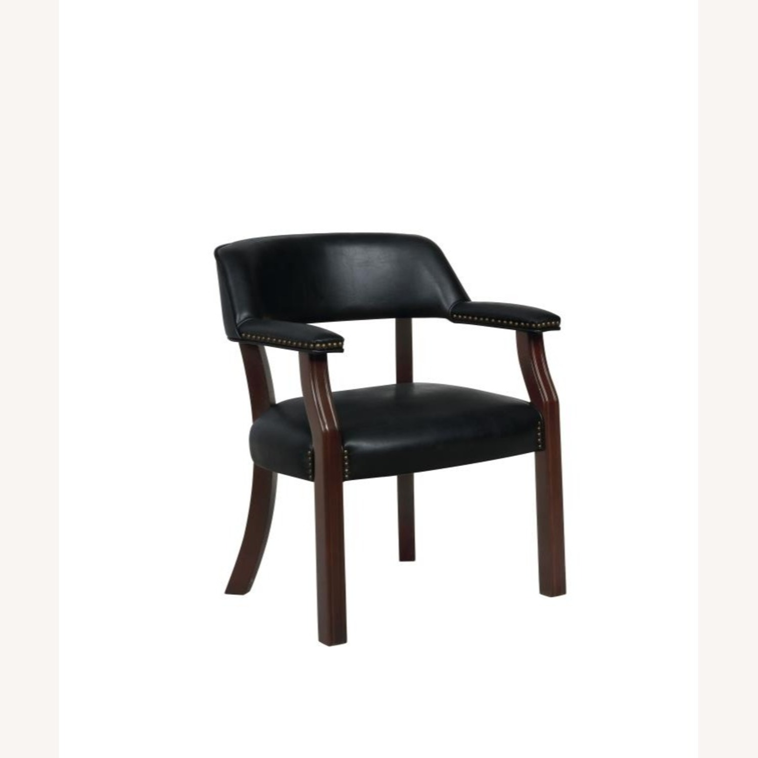 Guest Chair In Black Leatherette - image-0