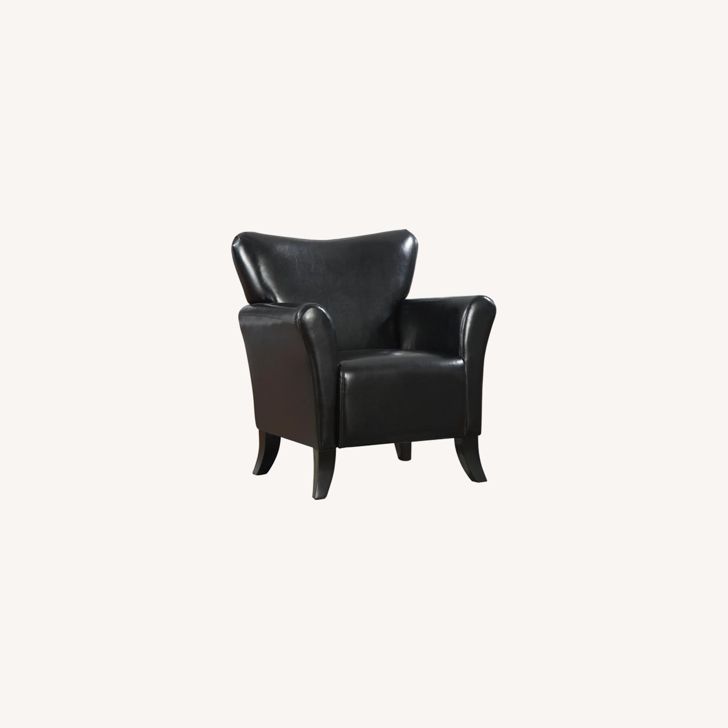 Styling Accent Chair In Black Leatherette - image-3