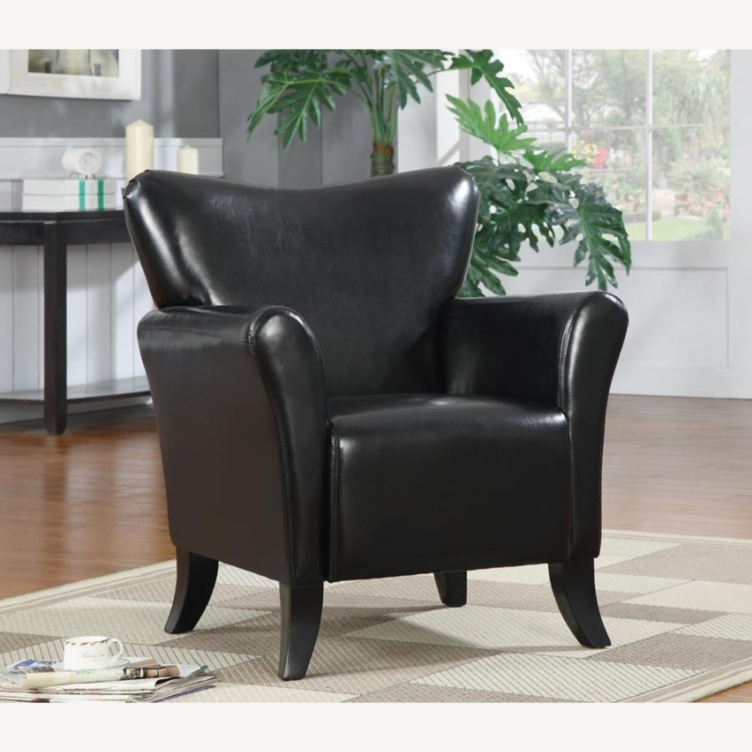 Styling Accent Chair In Black Leatherette - image-2