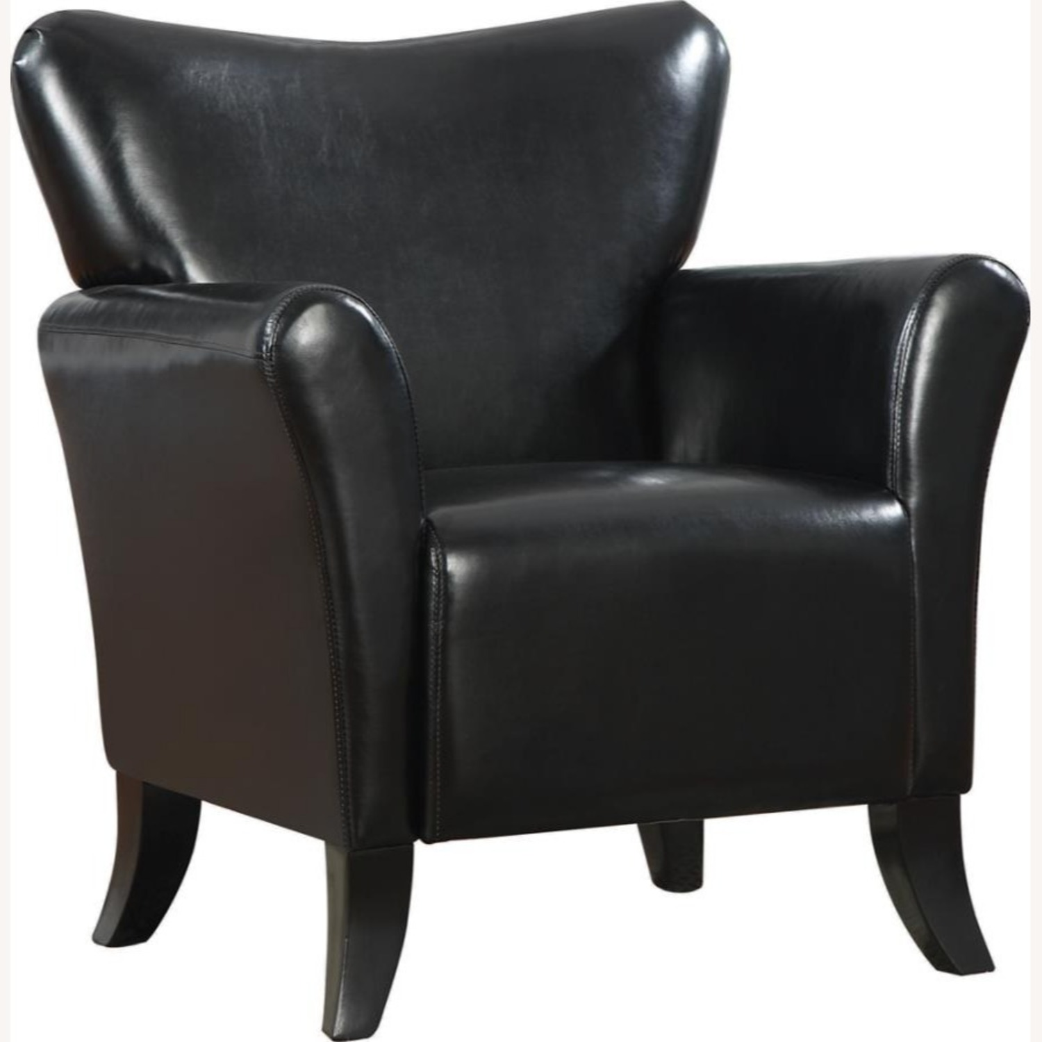 Styling Accent Chair In Black Leatherette - image-0