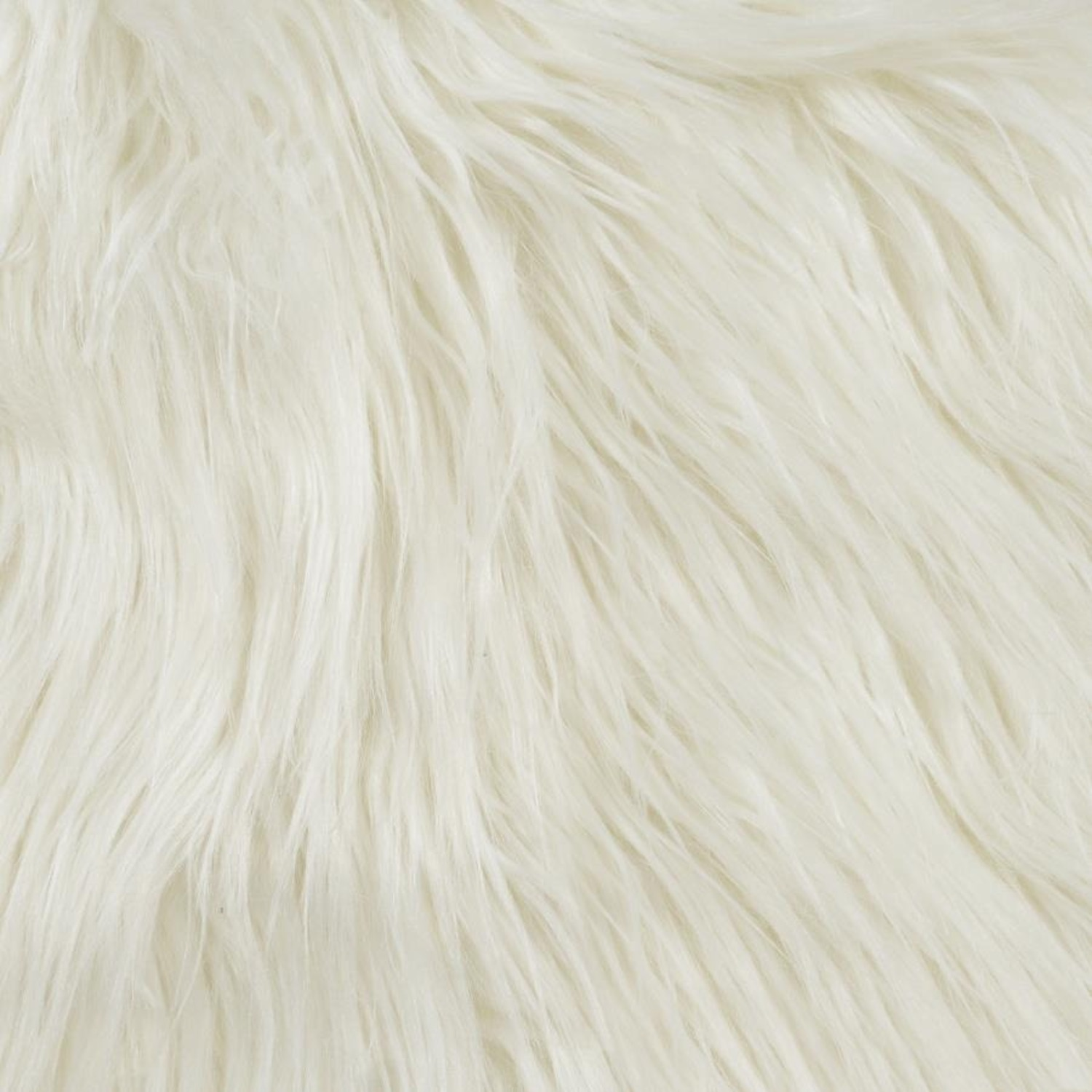 Accent Chair In Glamorous White Faux Sheepskin - image-3
