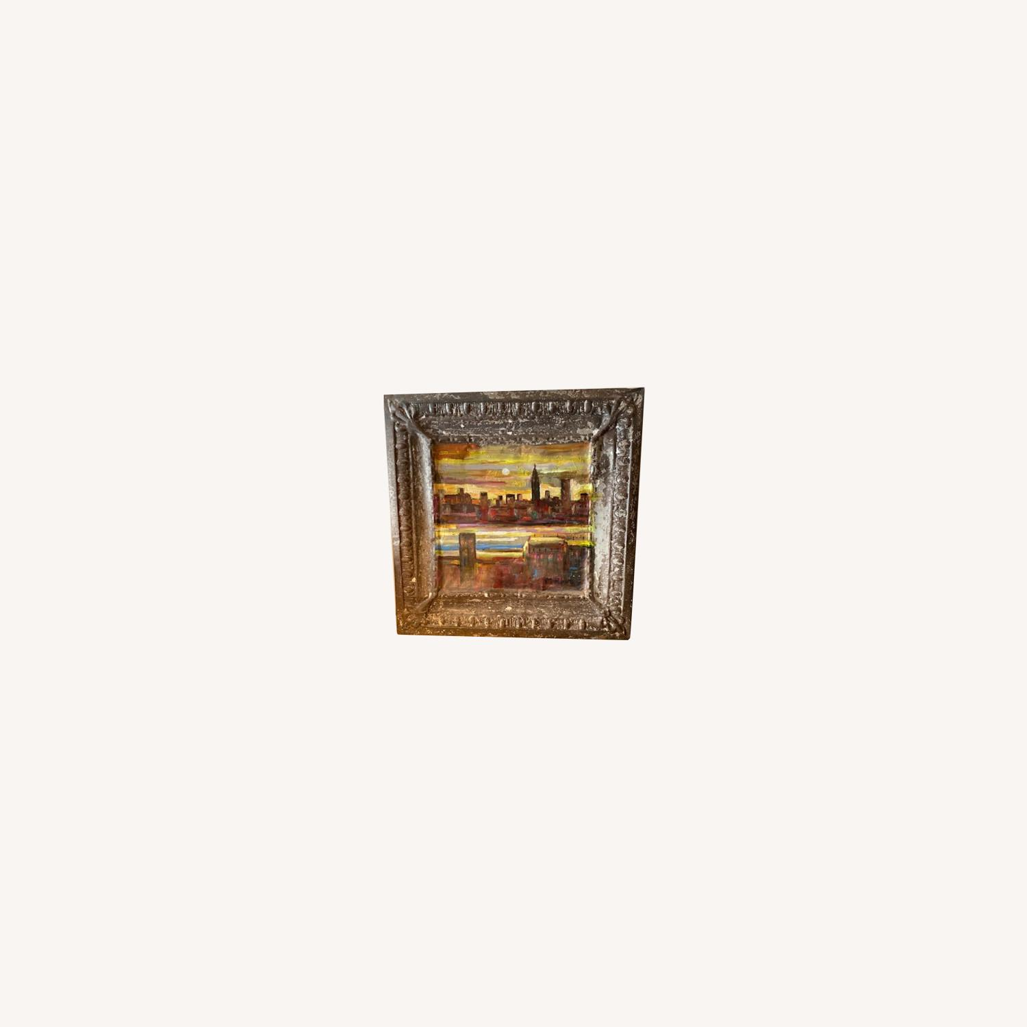 Old Goode Things Tin Ceiling Panel Painting - image-0