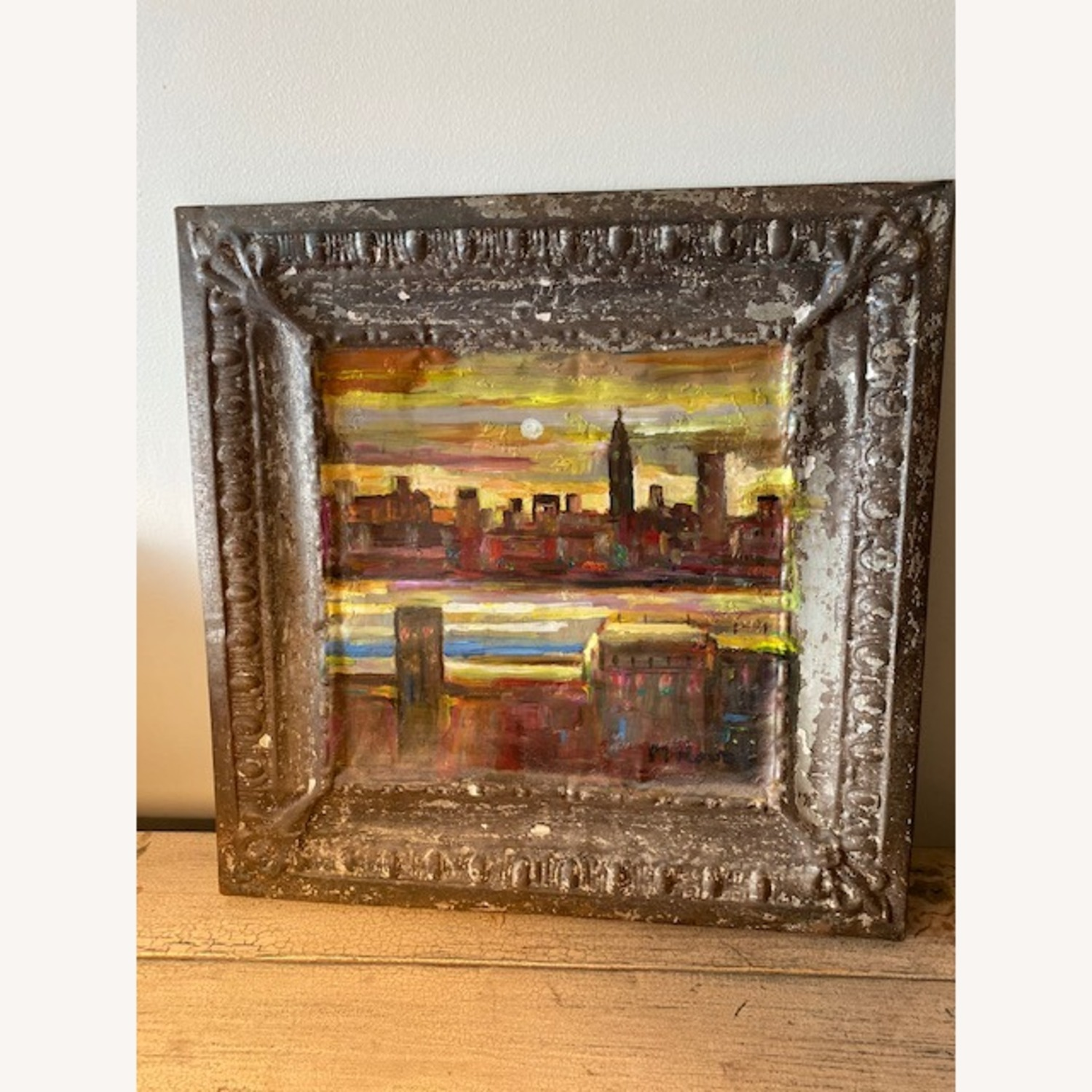 Old Goode Things Tin Ceiling Panel Painting - image-4