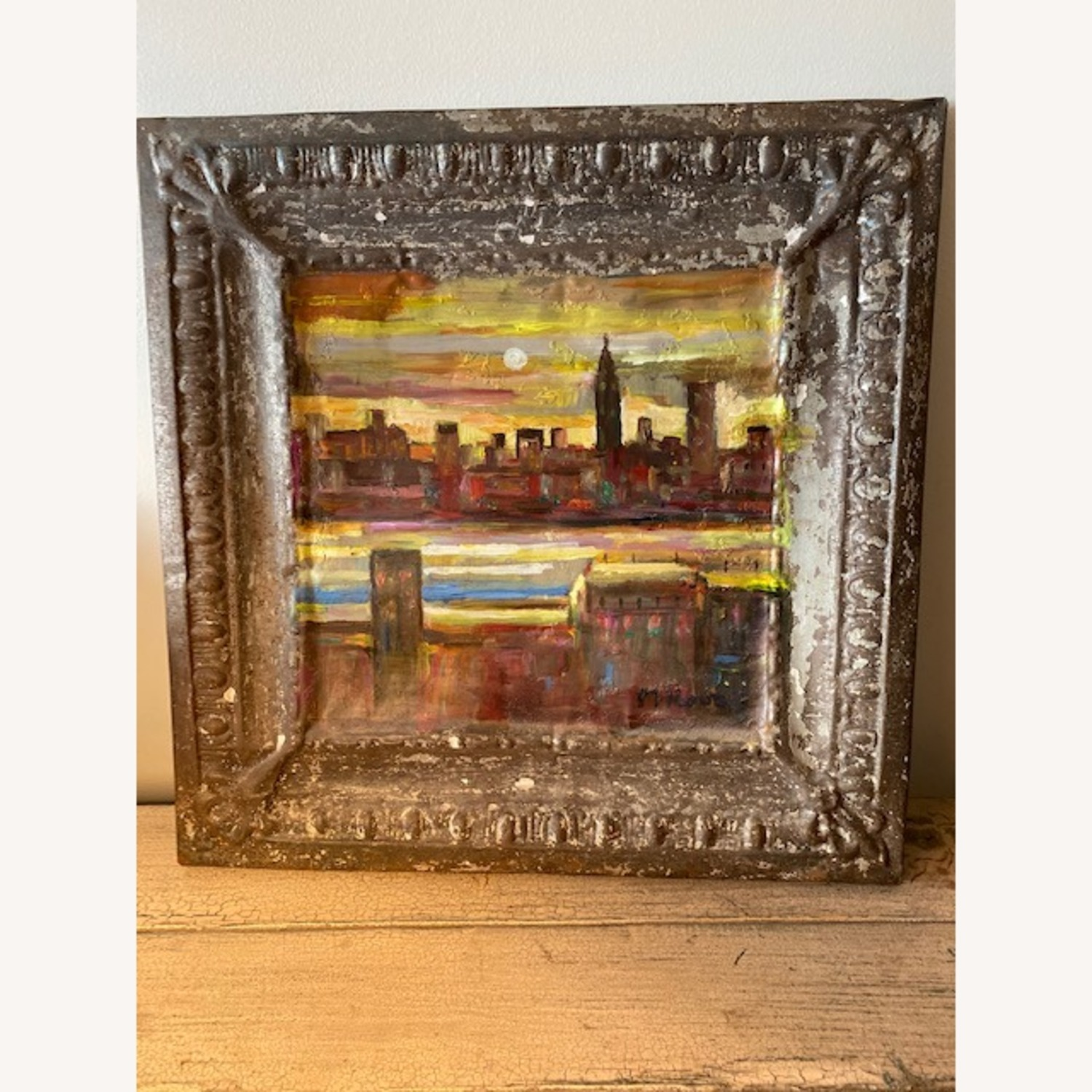 Old Goode Things Tin Ceiling Panel Painting - image-1