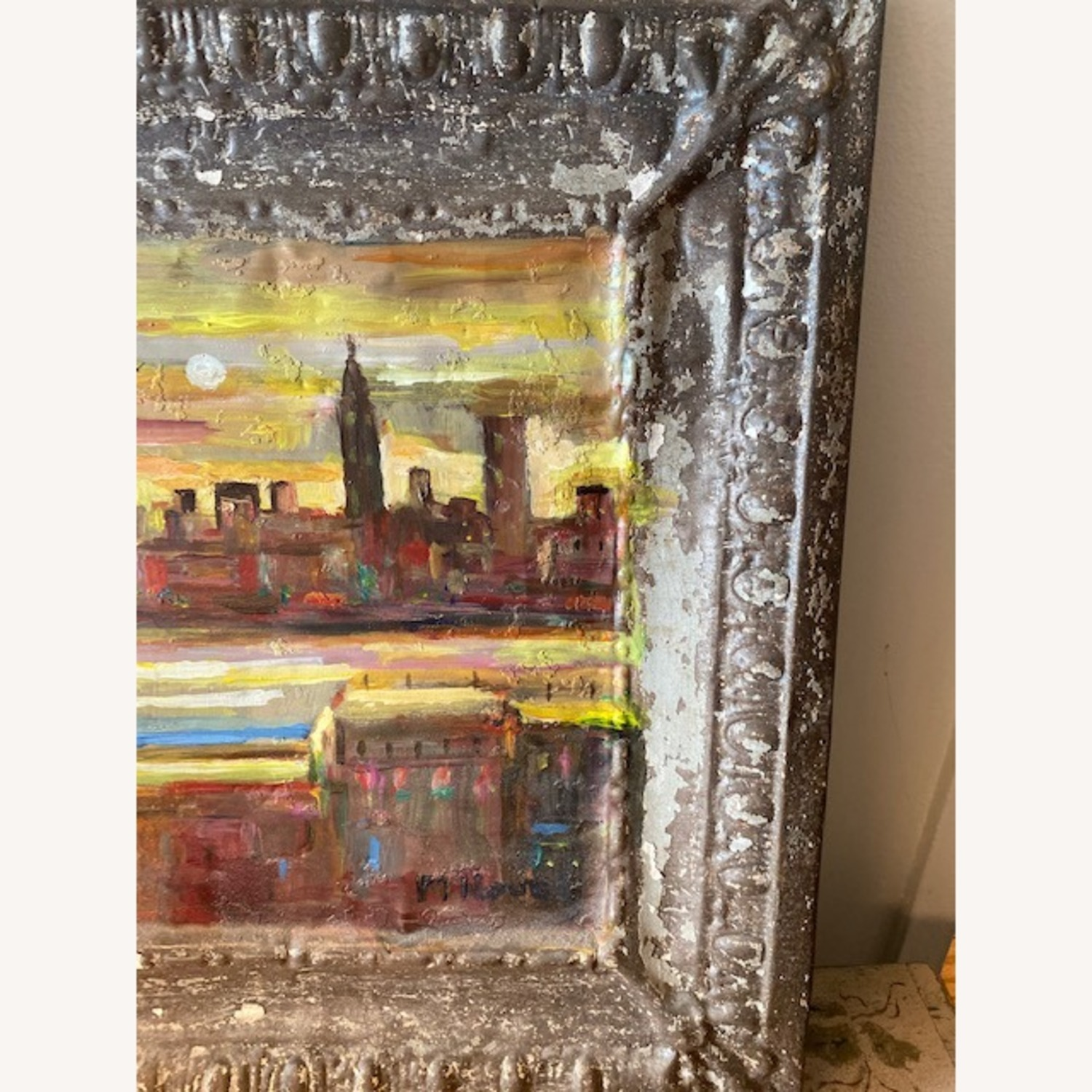 Old Goode Things Tin Ceiling Panel Painting - image-3