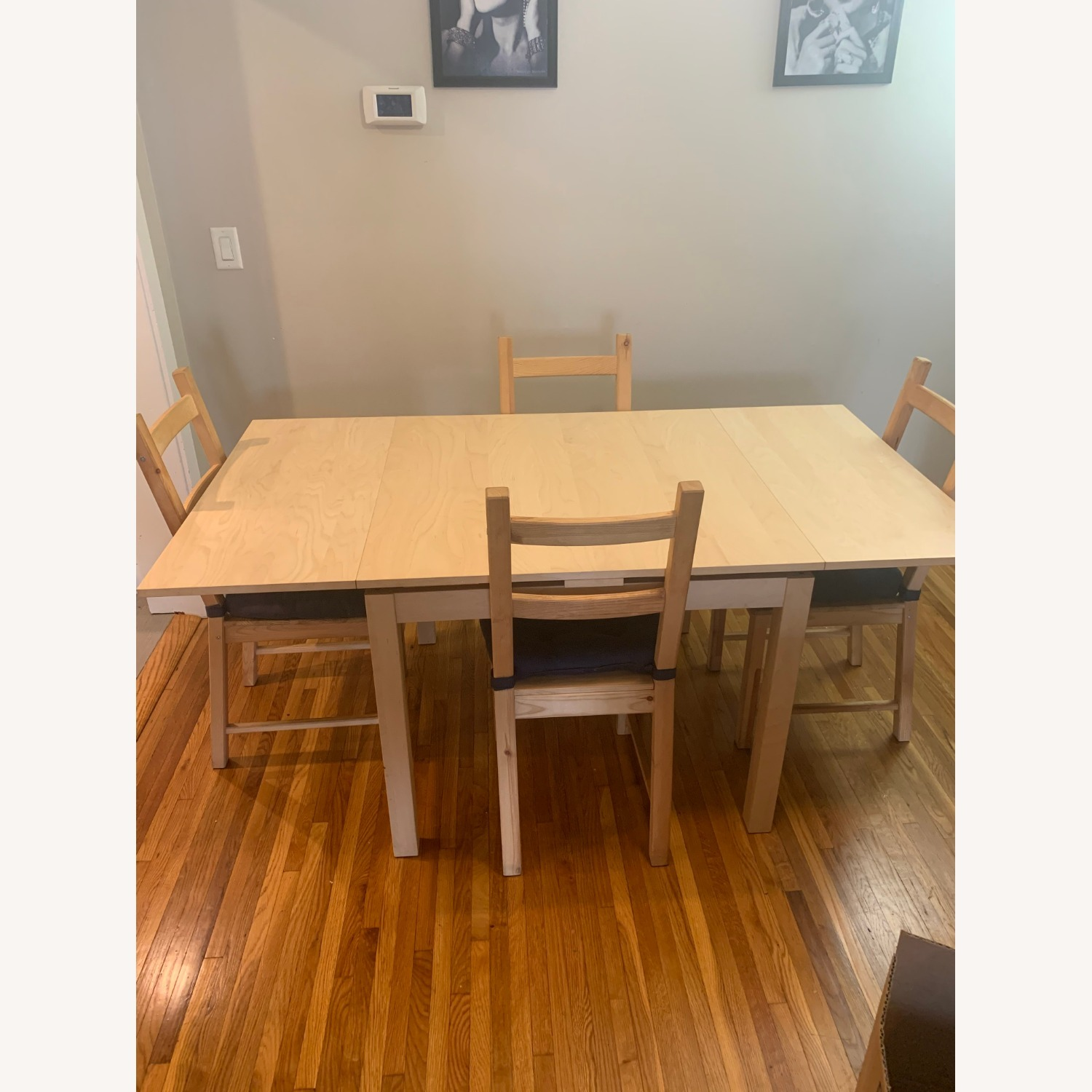IKEA Extendible Dining Table and Chairs - image-3