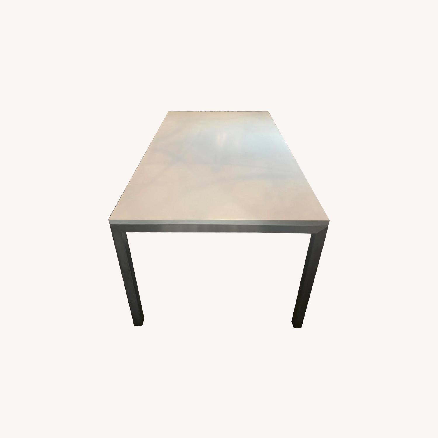 Crate & Barrel Stainless Steel Dining Table - image-0