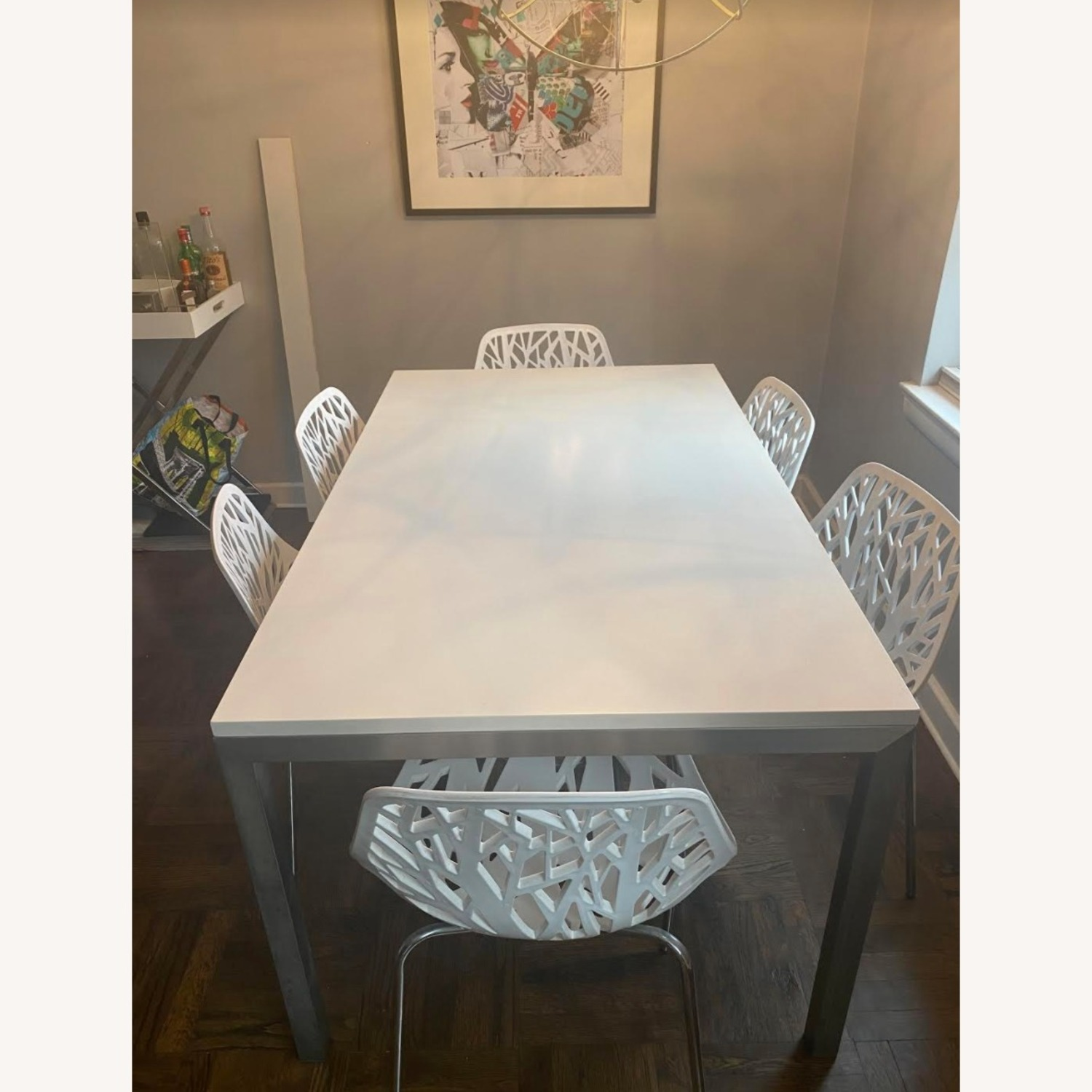 Crate & Barrel Stainless Steel Dining Table - image-1