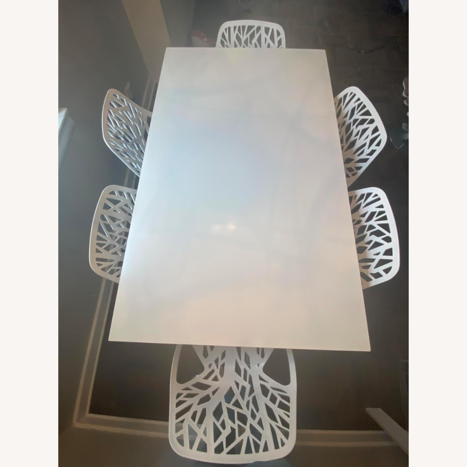 Crate & Barrel Stainless Steel Dining Table - image-3