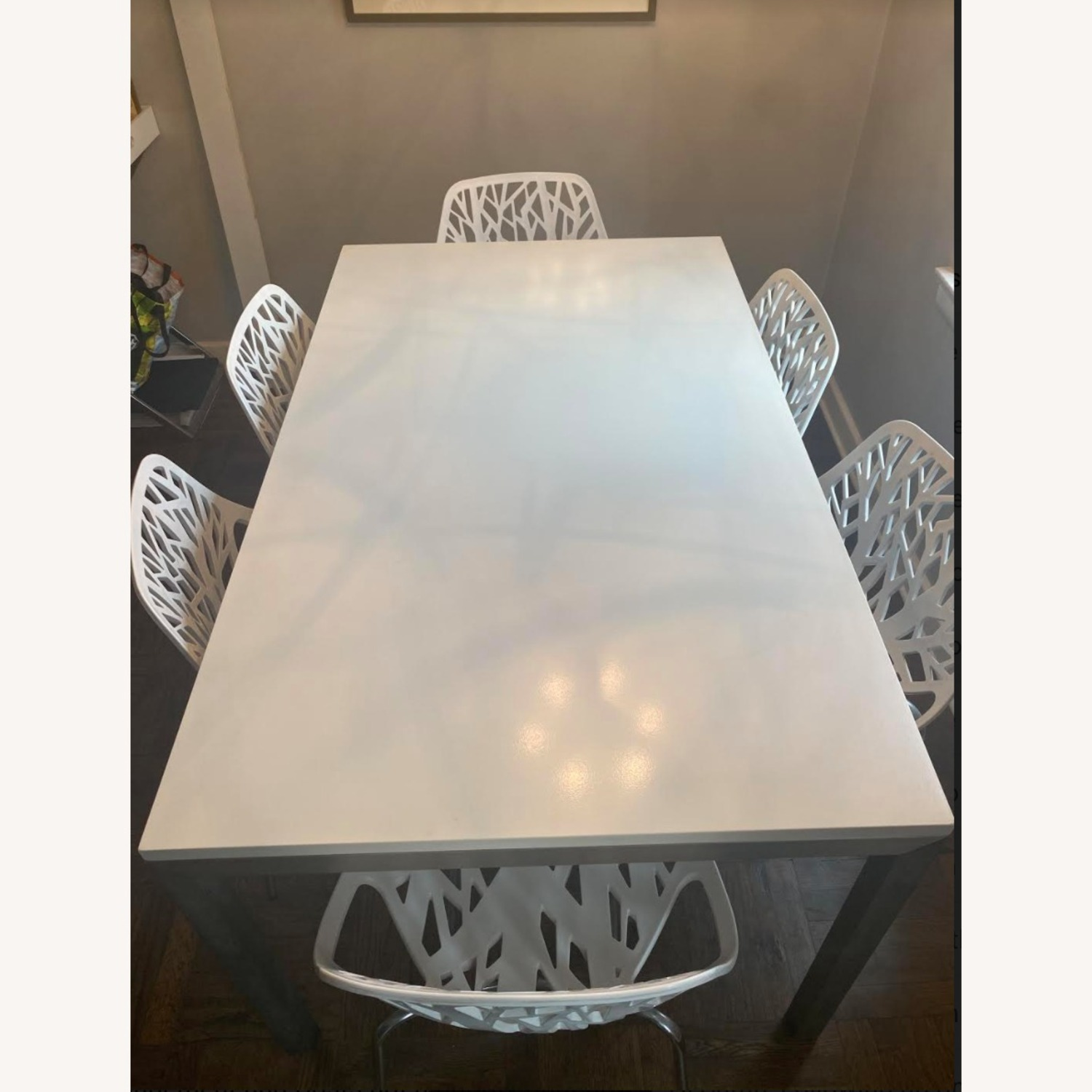 Crate & Barrel Stainless Steel Dining Table - image-2