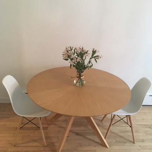 Used Scandinavian Stlye Dining Table and Chairs for sale on AptDeco