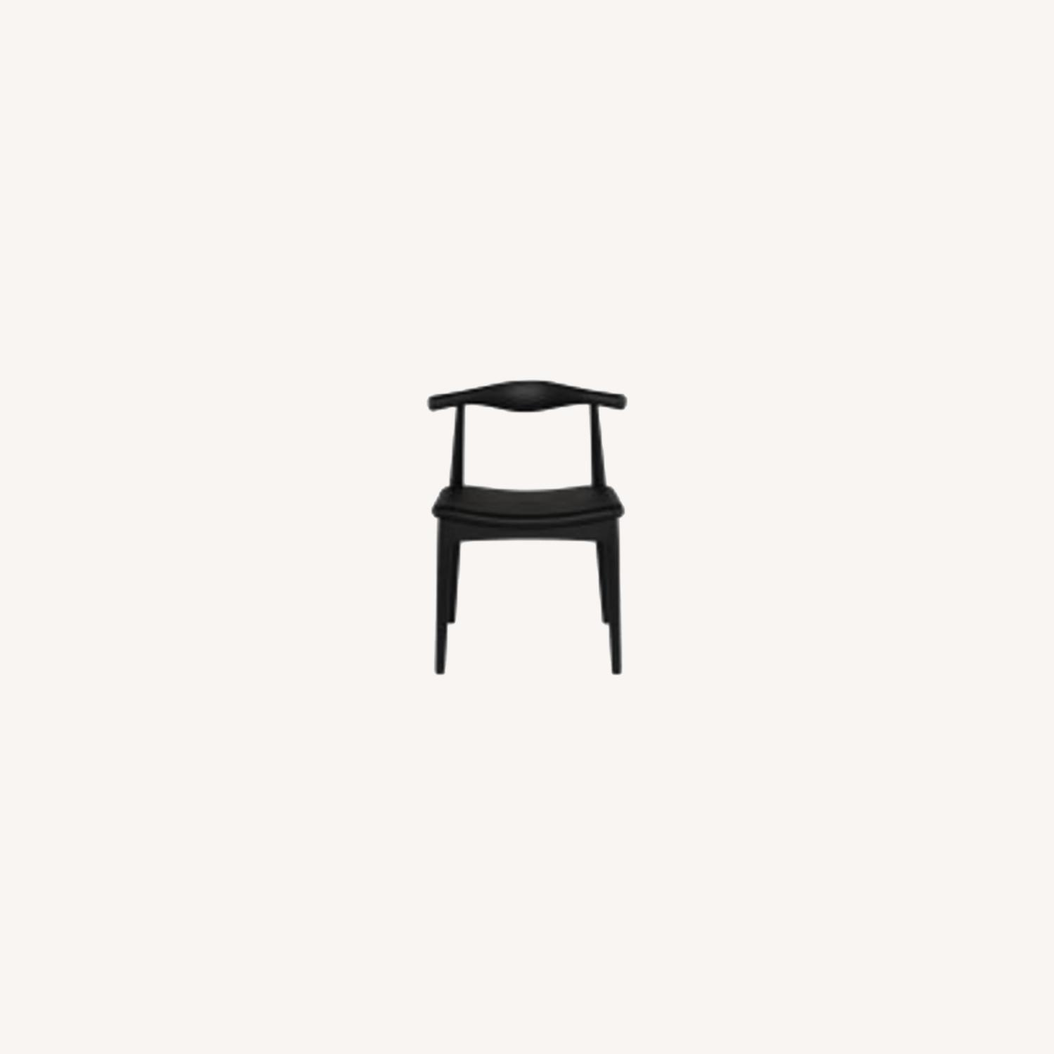 Set of 4 Leather Seat Dining Chairs - image-0