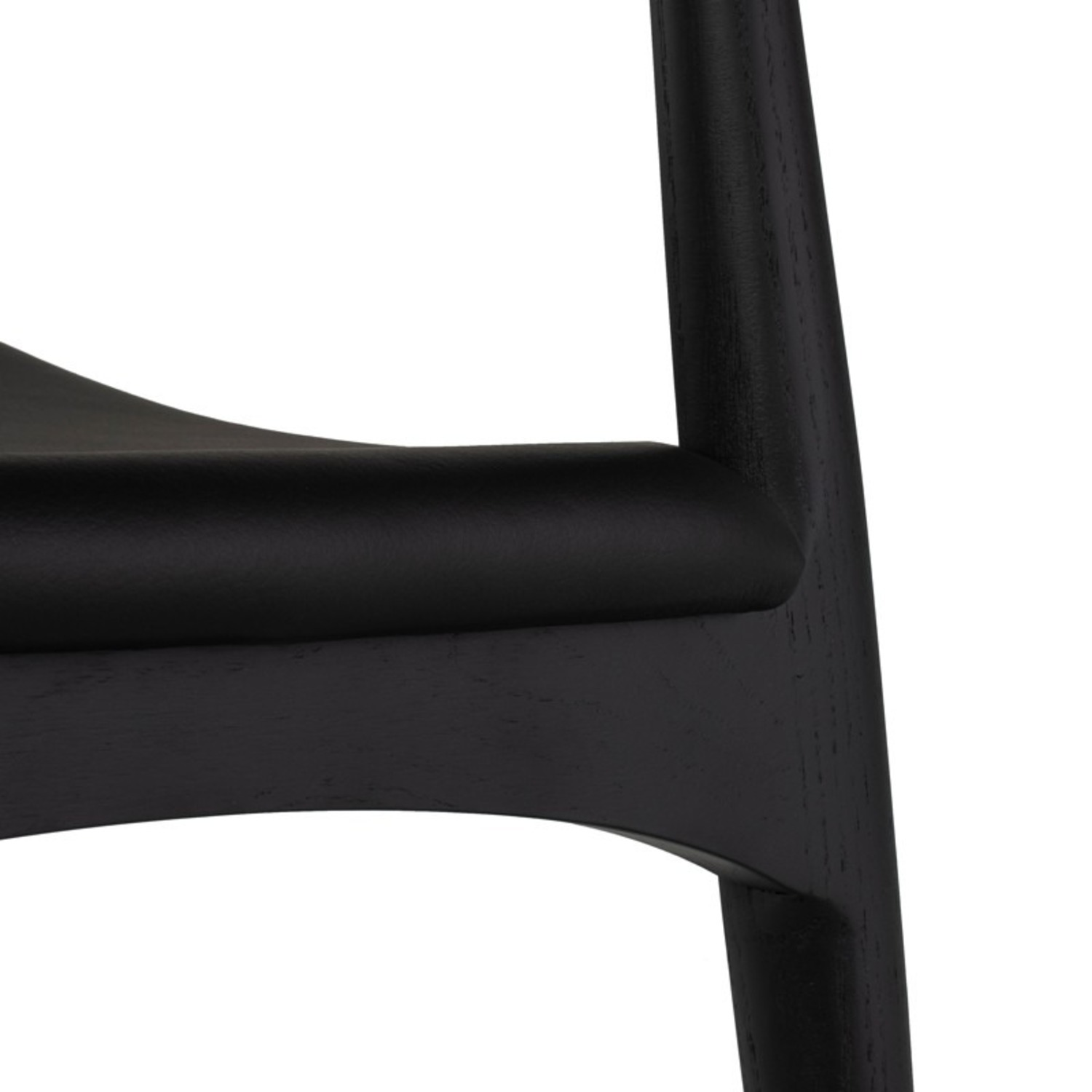 Set of 4 Leather Seat Dining Chairs - image-10