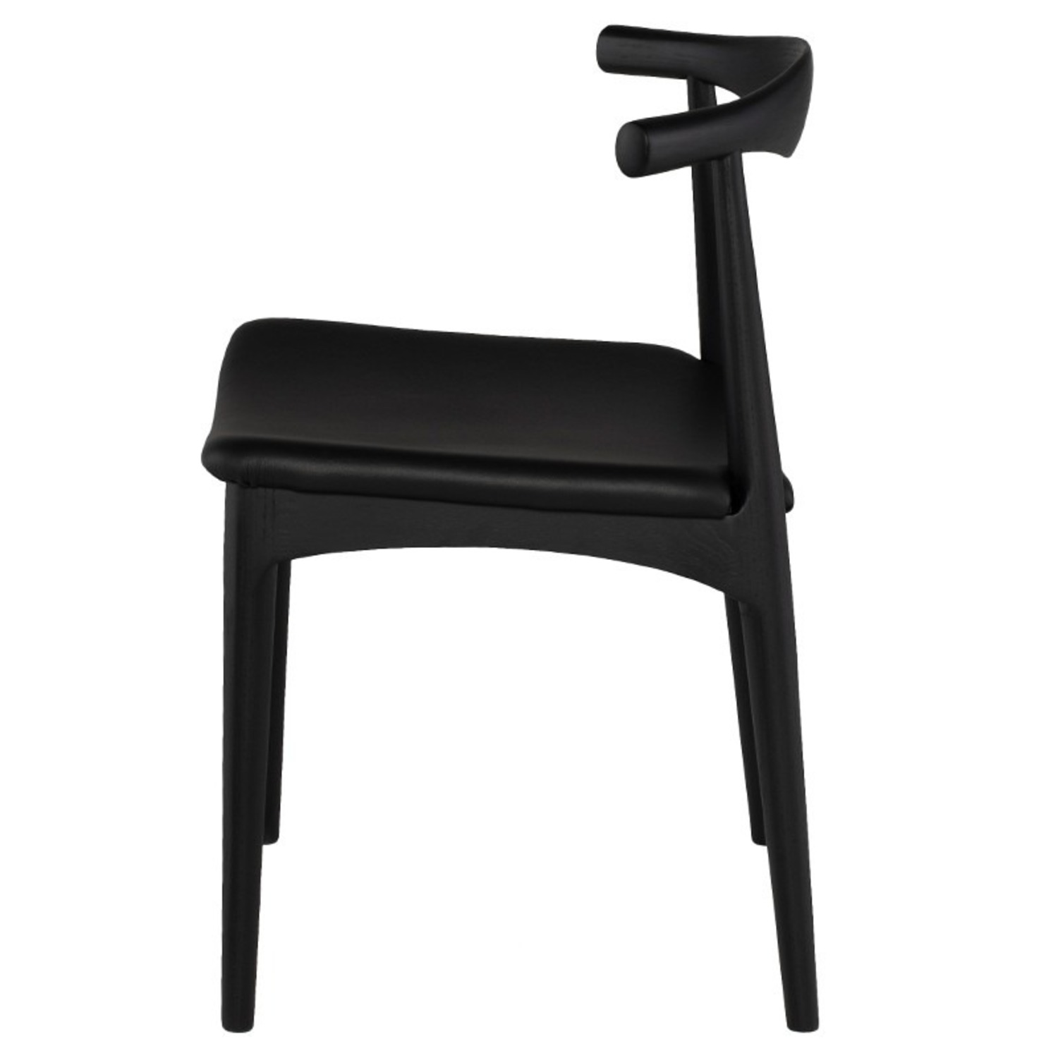 Set of 4 Leather Seat Dining Chairs - image-6