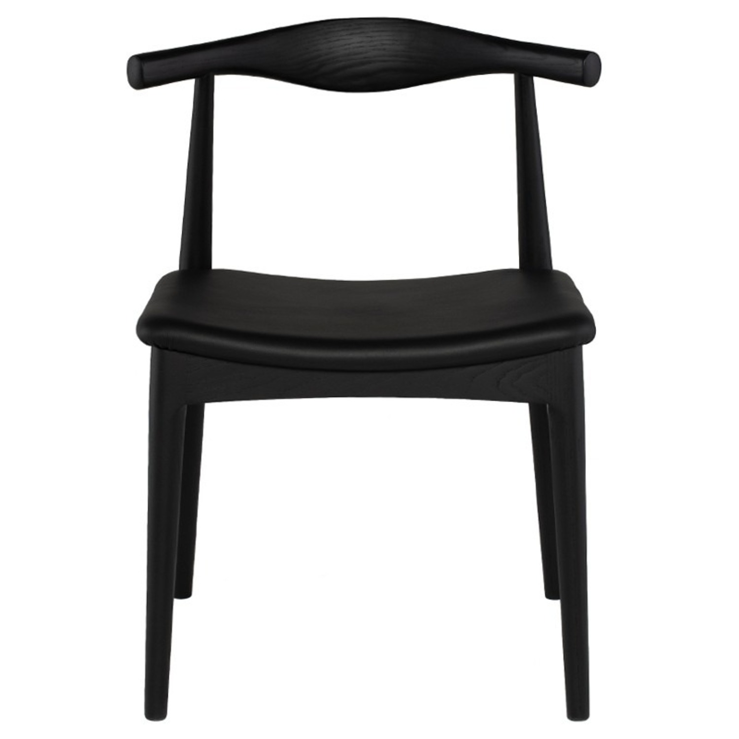 Set of 4 Leather Seat Dining Chairs - image-7