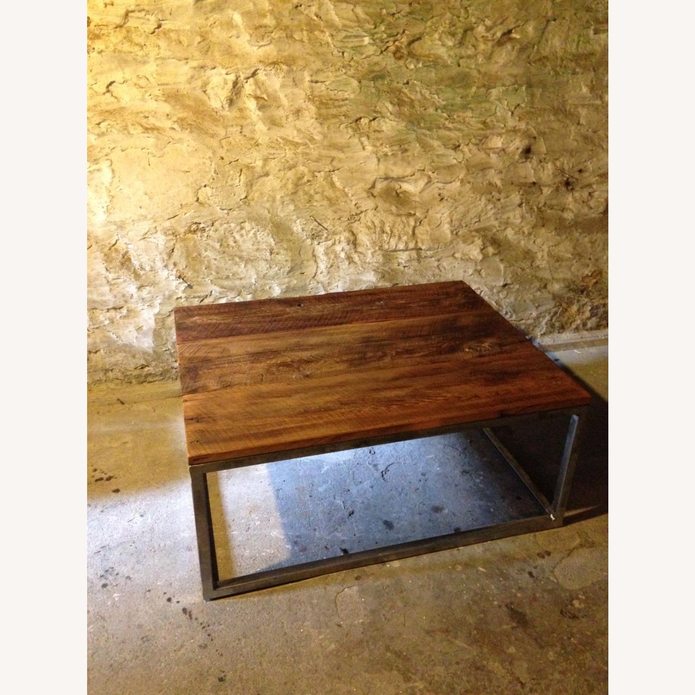 Custom-Made Industrial/Wood Coffee Table - image-5