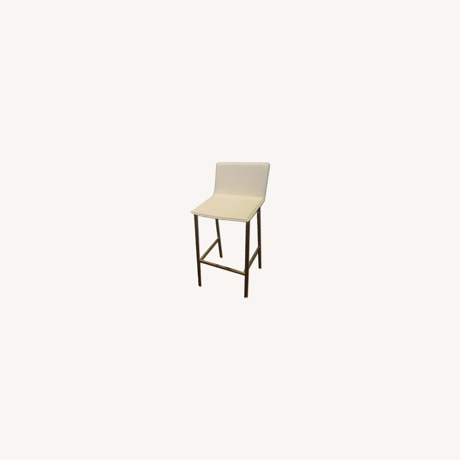 CB2 Phoenix Ivory Bar Height Chairs (set of 2) - image-0