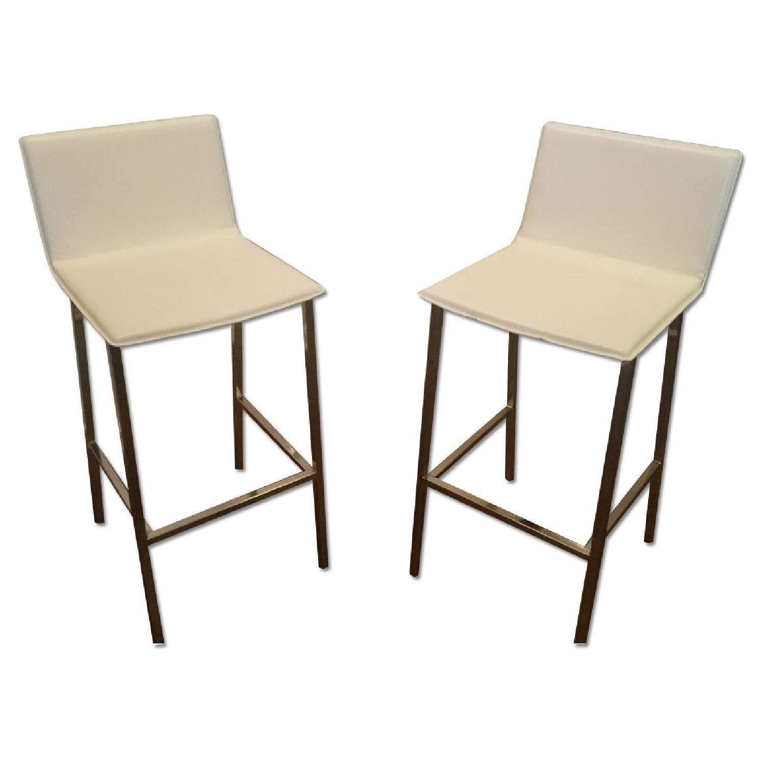 CB2 Phoenix Ivory Bar Height Chairs (set of 2) - image-2