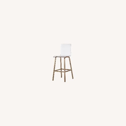 Used InspireQ Overstock Gold Clear Counter Stools for sale on AptDeco