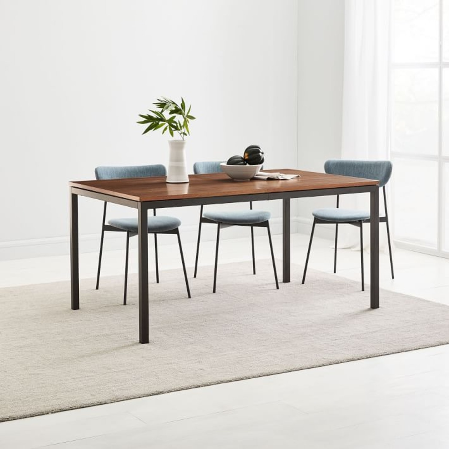 West Elm Frame Expandable Dining Table - image-2