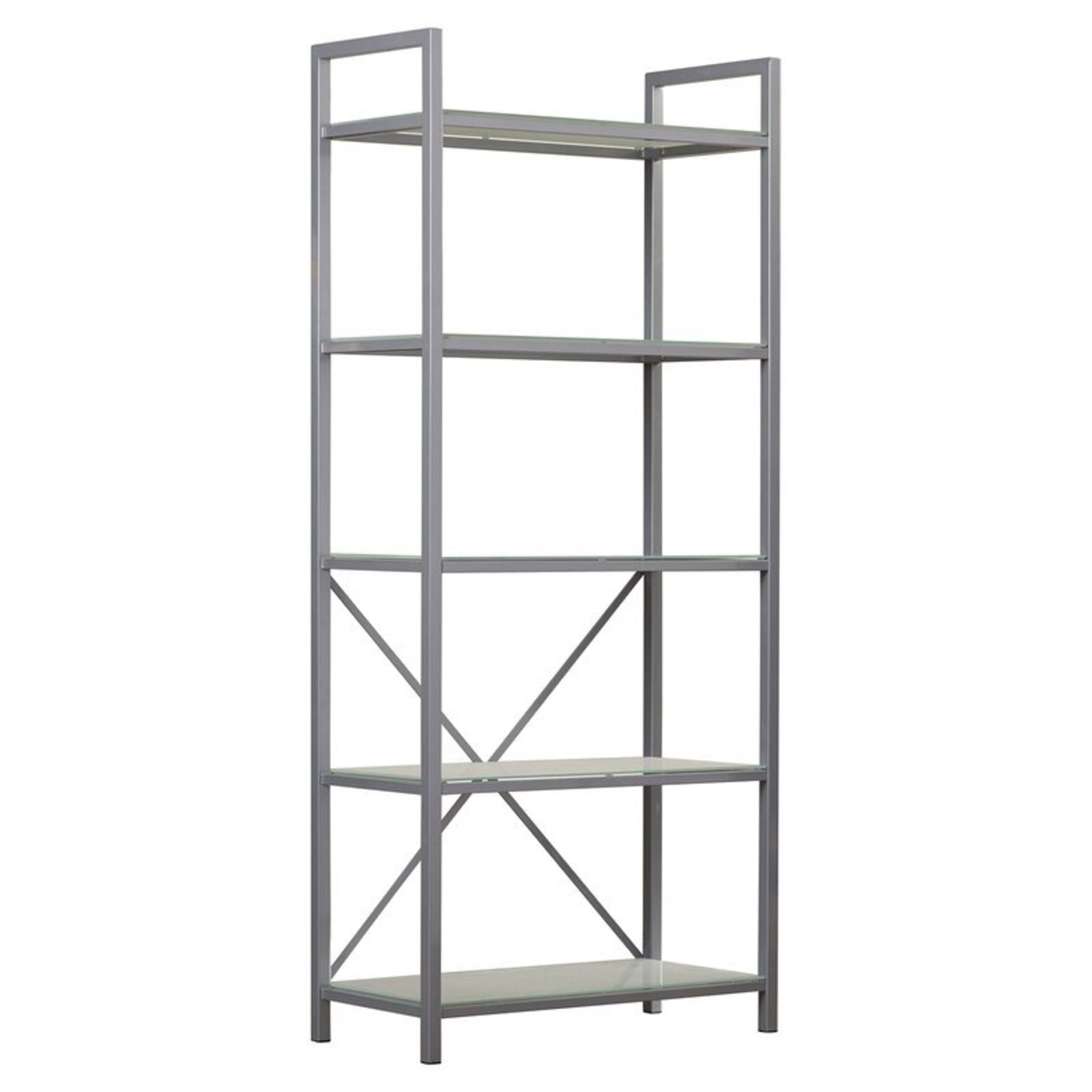 Pair of Wayfair Silver Bookcases - image-0