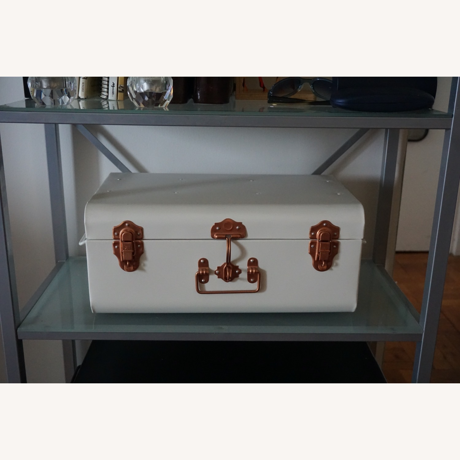 Pair of Wayfair Silver Bookcases - image-6