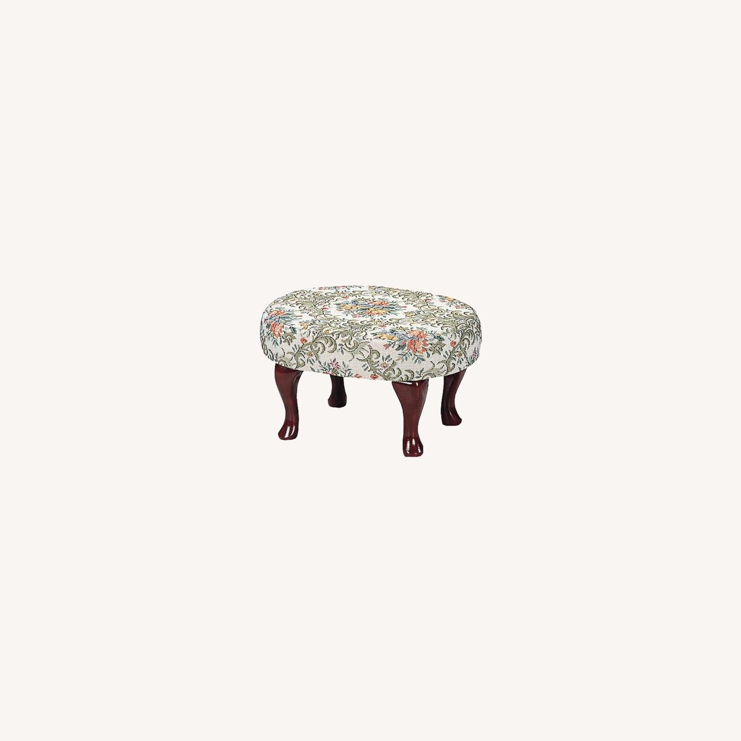 Mid Century Stool In Multi-Color Patterned Finish - image-4