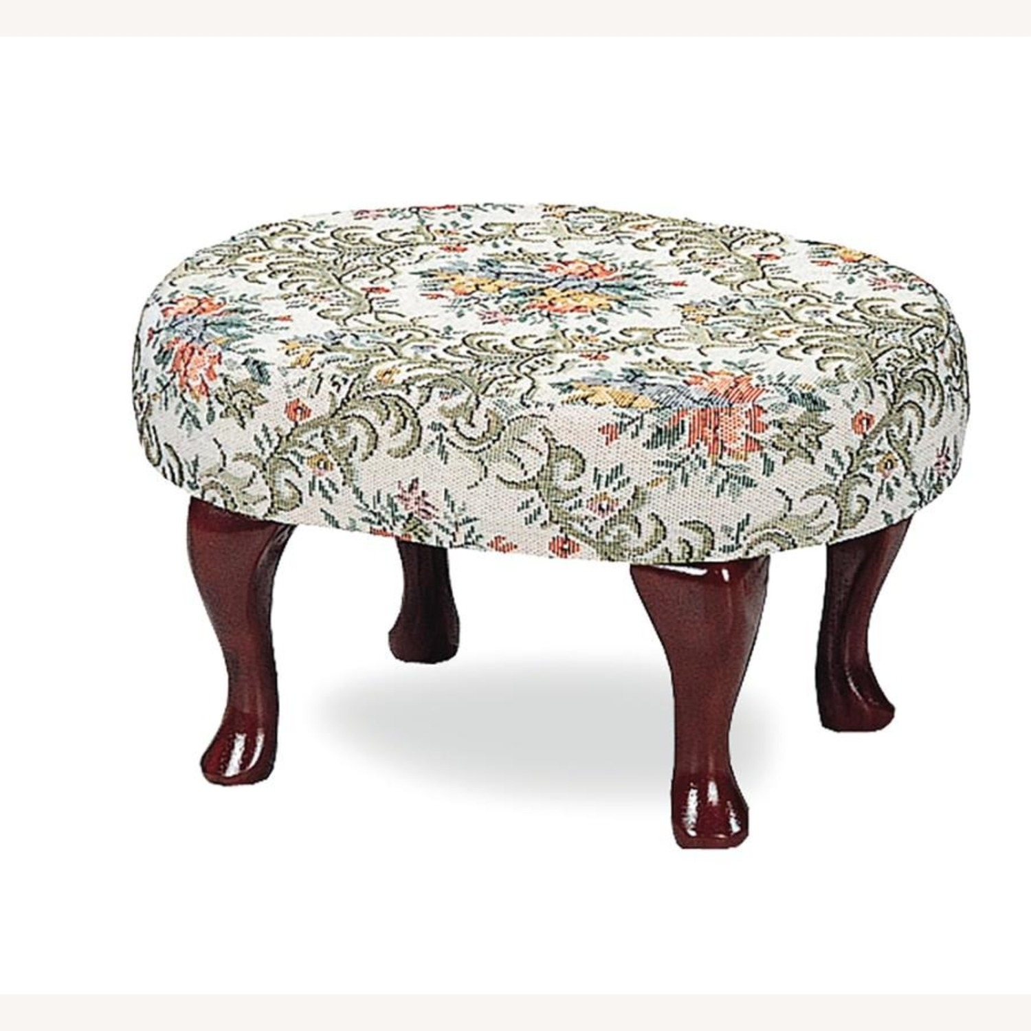 Mid Century Stool In Multi-Color Patterned Finish - image-3