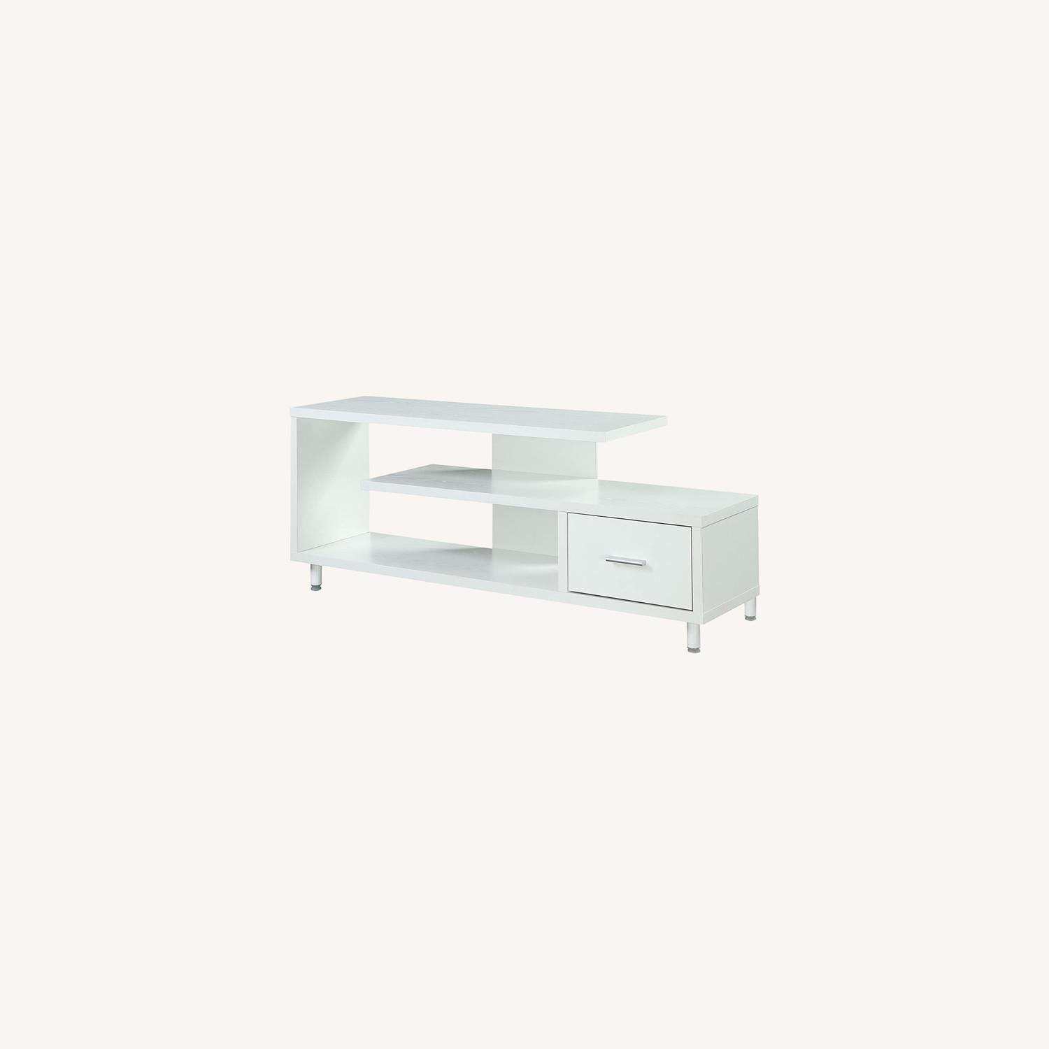 "Convenience Concepts Modern 60"" TV Stand White - image-0"