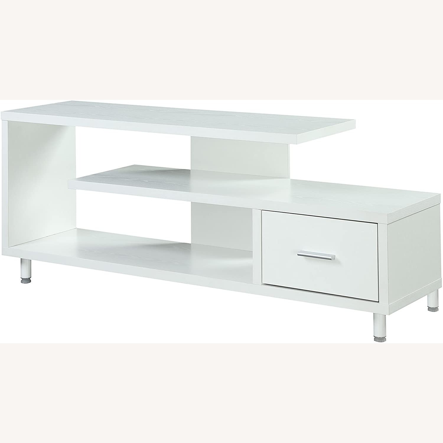 "Convenience Concepts Modern 60"" TV Stand White - image-3"