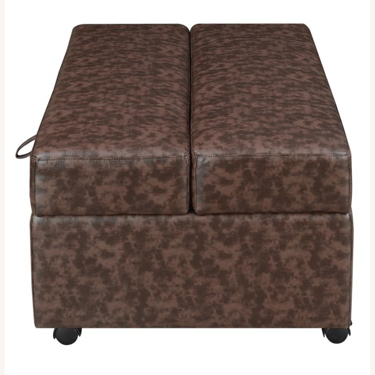 Multi-Functional Ottoman In Dark Brown Leatherette - image-2
