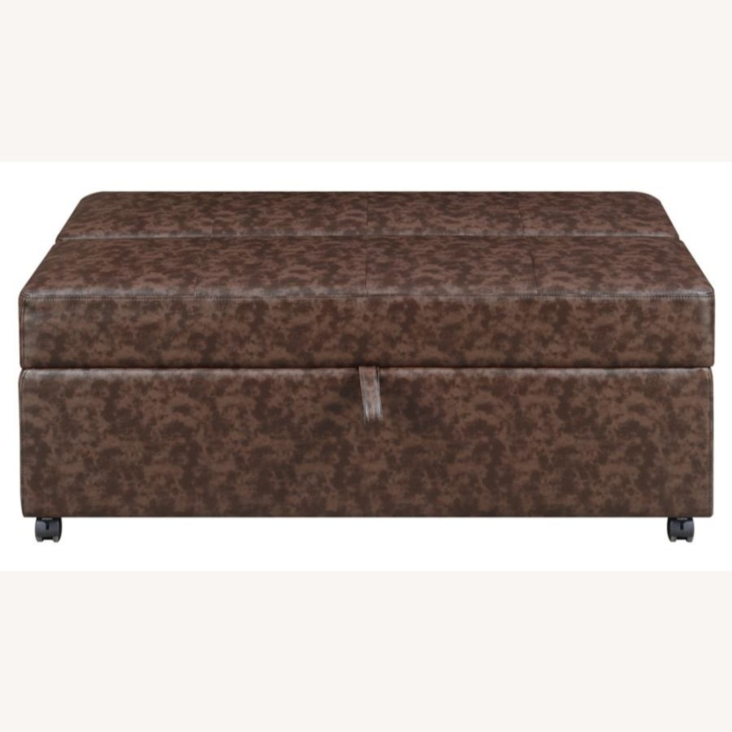 Multi-Functional Ottoman In Dark Brown Leatherette - image-1