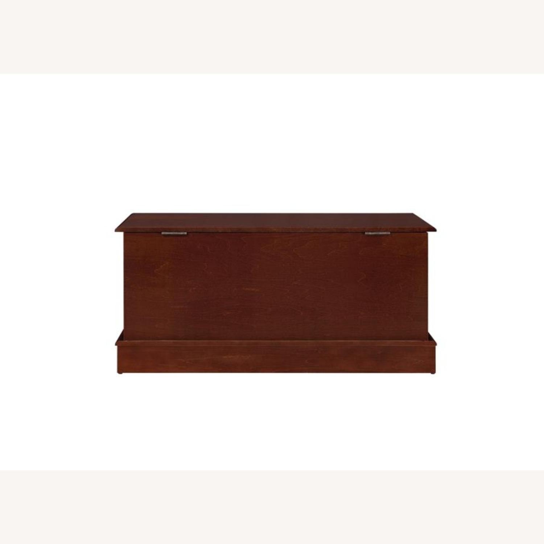 Cedar Chest W/ A Decorative Accent In Warm Brown - image-0