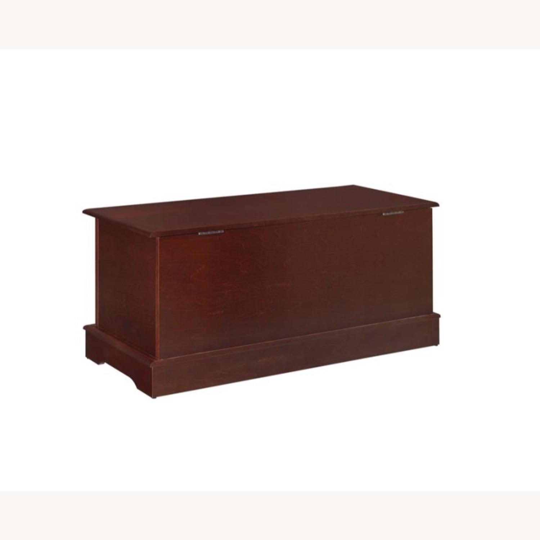 Cedar Chest W/ A Decorative Accent In Warm Brown - image-2