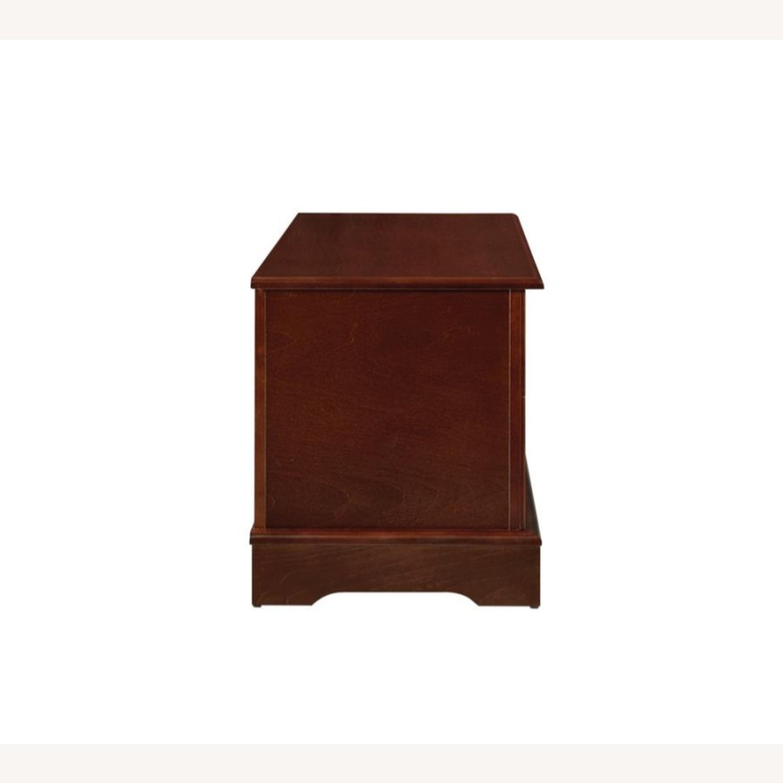 Cedar Chest W/ A Decorative Accent In Warm Brown - image-1