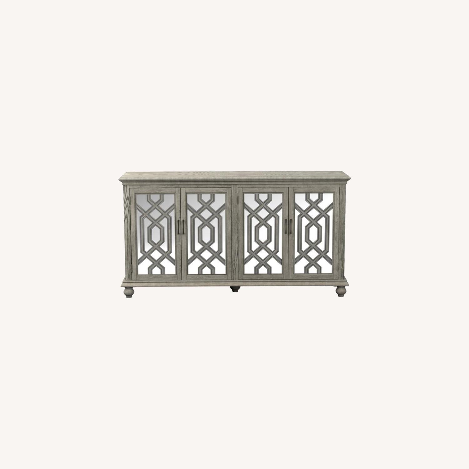 Accent Cabinet In Antique White W/ Bronze Details - image-6