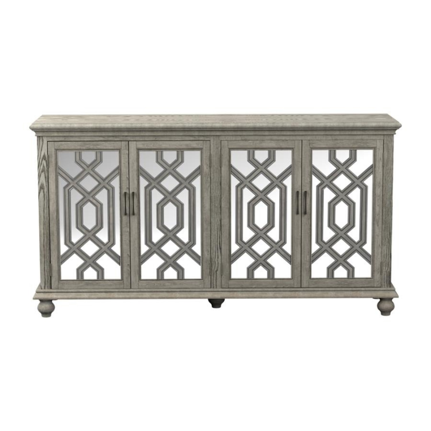 Accent Cabinet In Antique White W/ Bronze Details - image-2