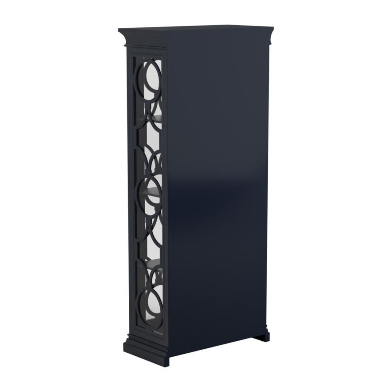 Tall Accent Cabinet In Grey Blue Finish - image-4