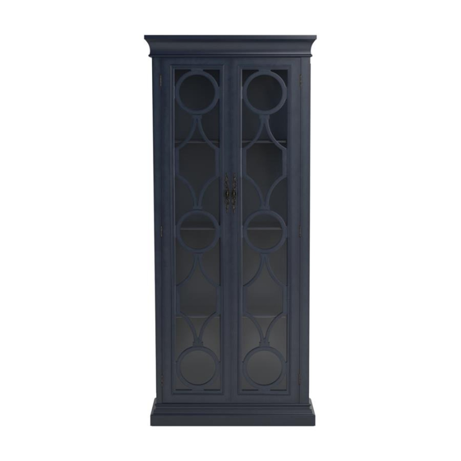 Tall Accent Cabinet In Grey Blue Finish - image-2