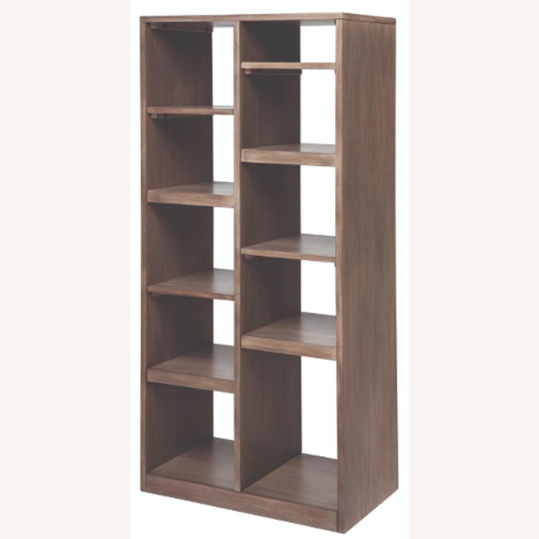 Etagere W/ Multiple Shelves In Sandstone Finish - image-1