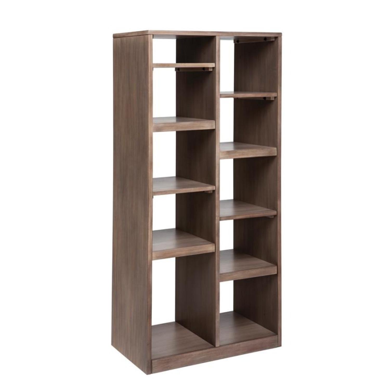 Etagere W/ Multiple Shelves In Sandstone Finish - image-0