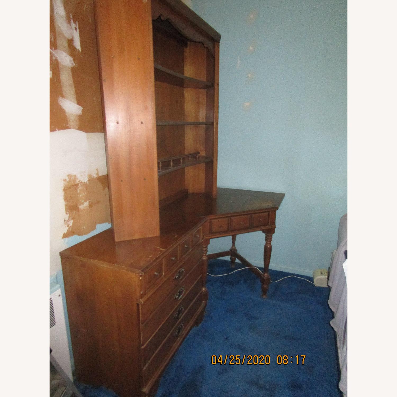 Maple Dresser, Desk, & Book Shelf Unit - image-1