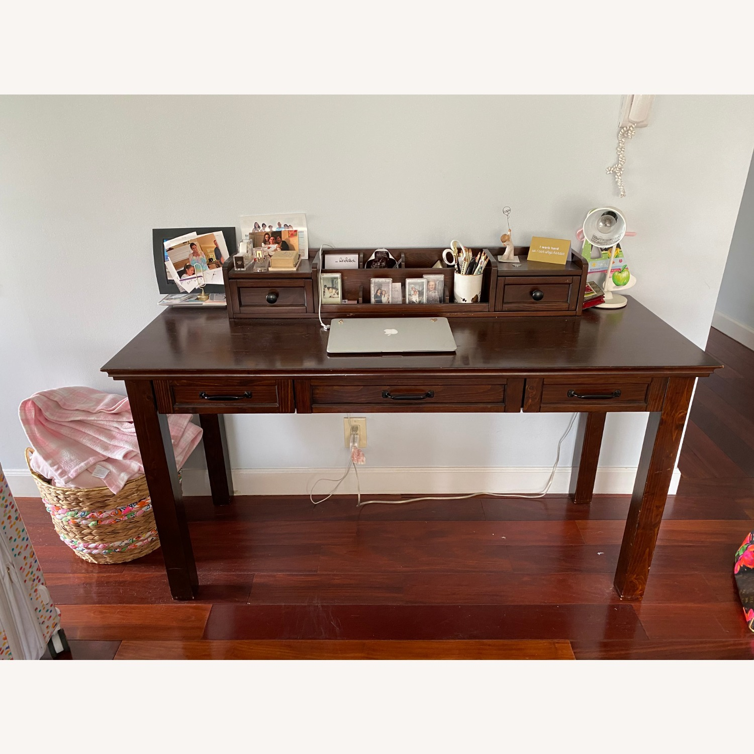 Pottery Barn Desk with Hutch - image-1