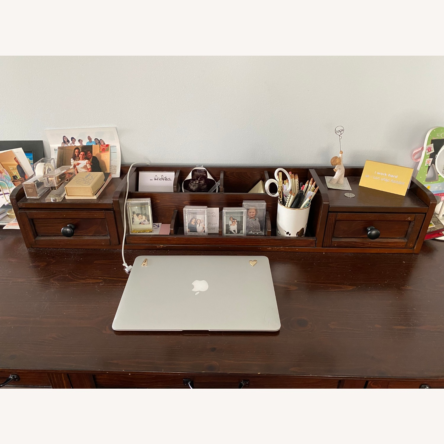 Pottery Barn Desk with Hutch - image-2