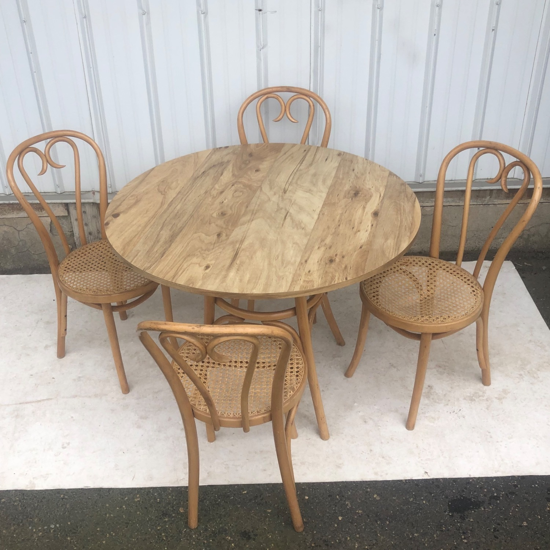 Vintage Boho Dining Set- Four Chairs - image-2