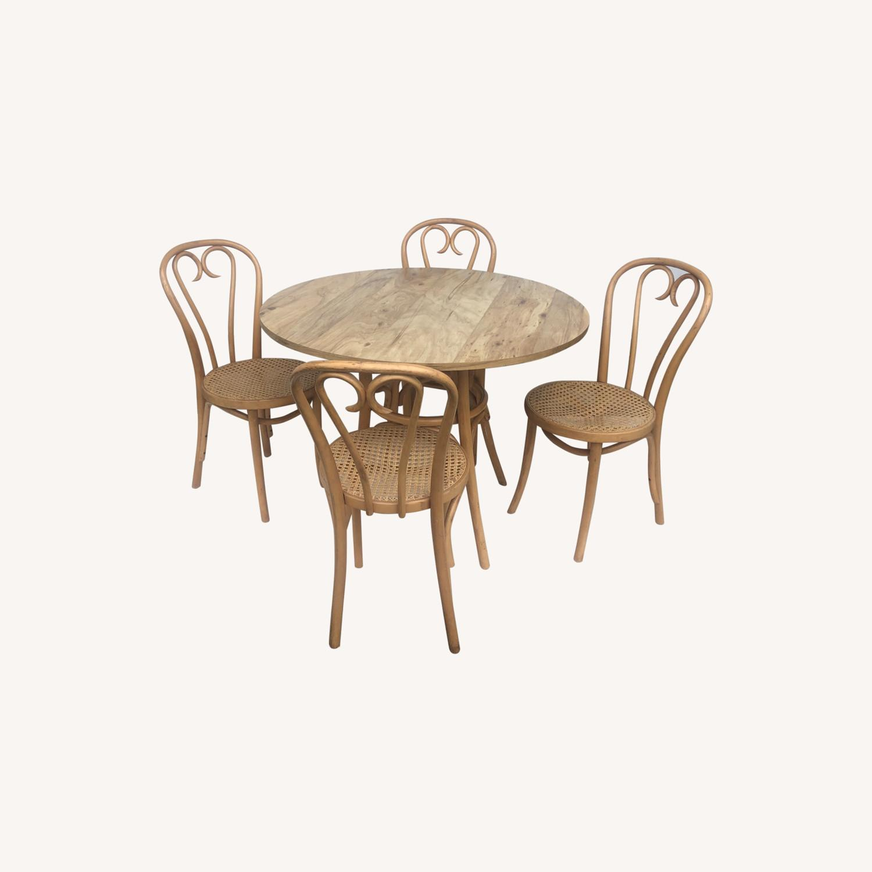 Vintage Boho Dining Set- Four Chairs - image-0