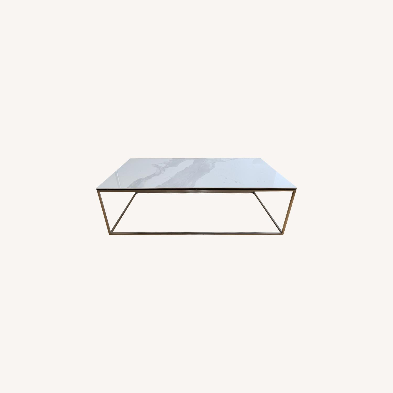 Room & Board White Coffee Table - image-0
